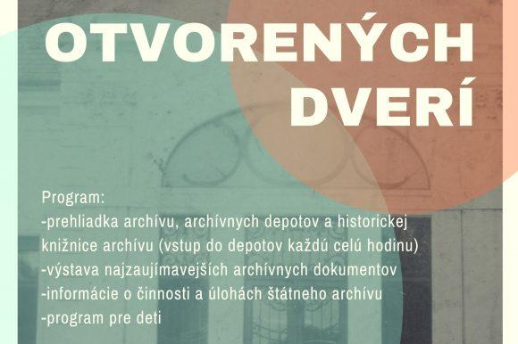 Deň otvorených dverí 20.09.2019 Štátny archív Ivanka pri Nitre